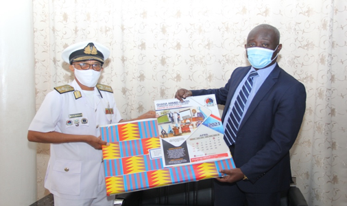 REAR ADMIRAL MOSES BEICK-BAFFOUR PAYS COURTESY CALL ON PROFESSOR MAXWELL OPOKU-AGYEMANG