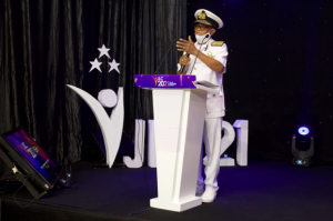 Rear Admiral Beick Baffour addressing the Conference